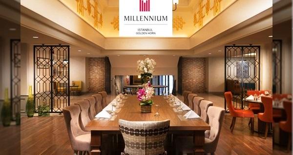 Millennium İstanbul Golden Horn'da iftar menüsü 89 TL'den başlayan fiyatlarla! Bu fırsat 13 Mayıs - 19 Mayıs 2019 tarihleri arasında, iftar saatinde geçerlidir.