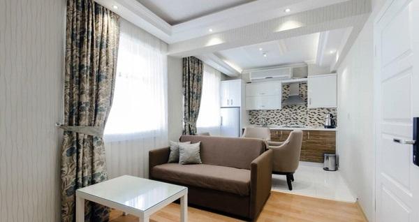 Bayram'da da geçerli Hotel Apart Alsancak'ta balkonlu ya da mutfaklı odalarda çift kişilik 1 gece konaklama ve kahvaltı seçenekleri 159 TL'den başlayan fiyatlarla! Fırsatın geçerlilik tarihi için, DETAYLAR bölümünü inceleyiniz.