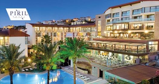 Pırıl Hotel Thermal & Beauty Spa Çeşme'de çift kişilik yarım pansiyon 1 gece konaklama 1100 TL'den başlayan fiyatlarla! Fırsatın geçerlilik tarihi için DETAYLAR bölümünü inceleyiniz.