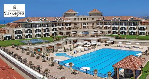 5 yıldızlı Şile Gardens Hotel'de çift kişilik 1 gece konaklama seçenekleri 218 TL'den başlayan fiyatlarla! Fırsatın geçerlilik tarihi için, DETAYLAR bölümünü inceleyiniz.