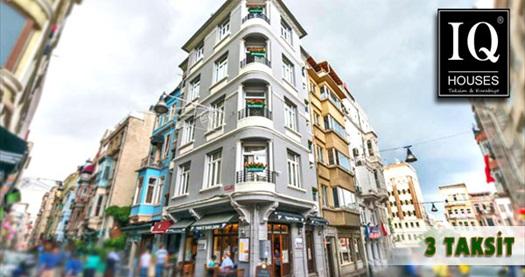 İstanbul'un kalbi Taksim IQ Houses Apartment'te 1 gece konaklama keyfi 189 TL'den başlayan fiyatlarla! Özel günler HARİÇ; 10 Nisan-30 Nisan ve 10 Mayıs-20 Aralık 2015 tarihleri arasında, haftanın her günü geçerlidir. Fırsata, çeşitli oda tiplerinde 1 gece 2, 3 veya 4 kişilik konaklama dahildir.