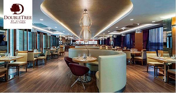DoubleTree by Hilton Topkapı The Lounge Cafe'de her Çarşamba pizza veya her Cuma kebap menüsü kişi başı 90 TL'den başlayan fiyatlarla! Fırsatın geçerlilik tarihi için DETAYLAR bölümünü inceleyiniz.