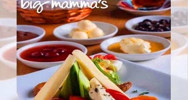 Big Mamma's Florya'da serpme kahvaltı keyfi (kişi başı) 43 TL! Fırsatın geçerlilik tarihi için DETAYLAR bölümünü inceleyiniz.
