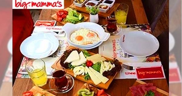 Big Mamma's Florya'da çift kişilik serpme kahvaltı keyfi 119 TL! Fırsatın geçerlilik tarihi için DETAYLAR bölümünü inceleyiniz.