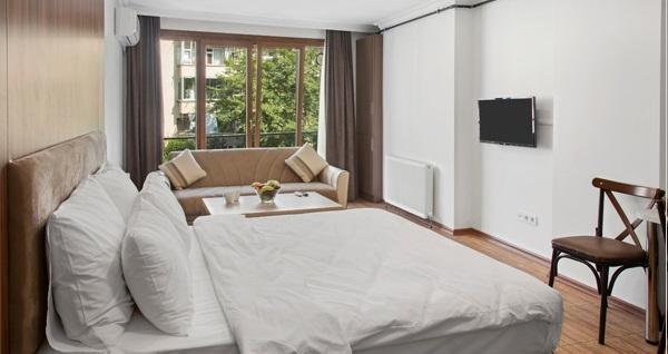 Şişli Modern Suites'te 2, 3, 4 ve 6 kişilik 1 gece konaklama seçenekleri 199 TL'den başlayan fiyatlarla! Fırsatın geçerlilik tarihi için DETAYLAR bölümünü inceleyiniz.
