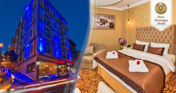 Şişli Montagna Hera Hotel'de çift kişilik 1 gece konaklama seçenekleri 179 TL'den başlayan fiyatlarla! Fırsatın geçerlilik tarihi için DETAYLAR bölümünü inceleyiniz.