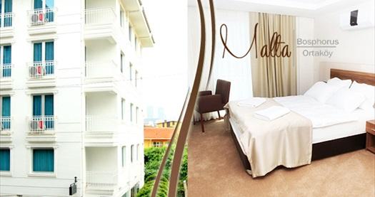 Ortaköy Malta Bosphorus Hotel'de çift kişilik 1 gece kahvaltı dahil konaklama seçenekleri 139 TL'den başlayan fiyatlarla! Fırsatın geçerlilik tarihi için DETAYLAR bölümünü inceleyiniz.