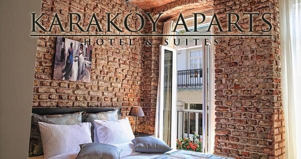 Karaköy Aparts Hotel & Suites'in farklı odalarında kahvaltı hariç çift kişilik 1 gece konaklama 199 TL'den başlayan fiyatlarla! Fırsatın geçerlilik tarihi için DETAYLAR bölümünü inceleyiniz.