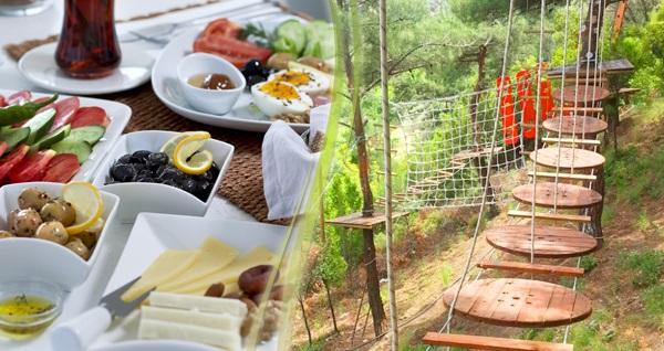 Bornova Homeros Adventure Doğa Sporları Merkezi'nde serpme kahvaltı veya 20 etaplık macera parkuru, 300 mt. zip-line, dev tırmanma duvarı ve serpme kahvaltı 22,50 TL'den başlayan fiyatlarla! Fırsatın geçerlilik tarihi için, DETAYLAR bölümünü inceleyiniz.