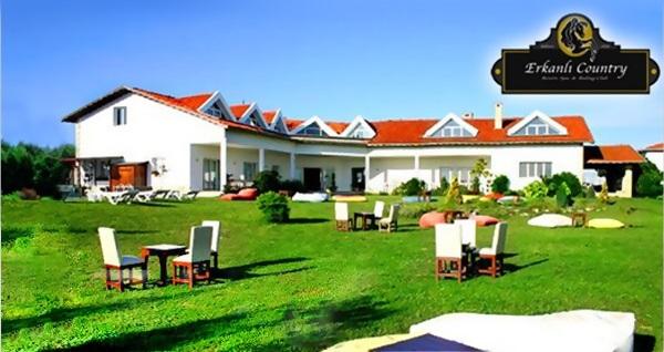 Silivri Erkanlı Country Resort Spa'da serpme kahvaltı dahil çift kişilik 1 gece konaklama ve spa 280 TL! Fırsatın geçerlilik tarihi için DETAYLAR bölümünü inceleyiniz.