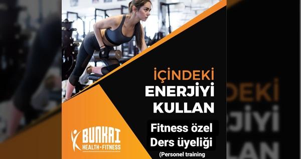 Bunkai Health Fitness'ta ders seçeneğiyle personal training birebir eğitmen eşliğinde fitness özel ders üyeliği 89 TL'den başlayan fiyatlarla! Fırsatın geçerlilik tarihi için DETAYLAR bölümünü inceleyiniz.