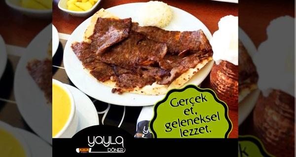 Anadolu Yayla Döner'de enfes tatlarla dolu yemek menüleri 25,90 TL'den başlayan fiyatlarla! Fırsatın geçerlilik tarihi için DETAYLAR bölümünü inceleyiniz.