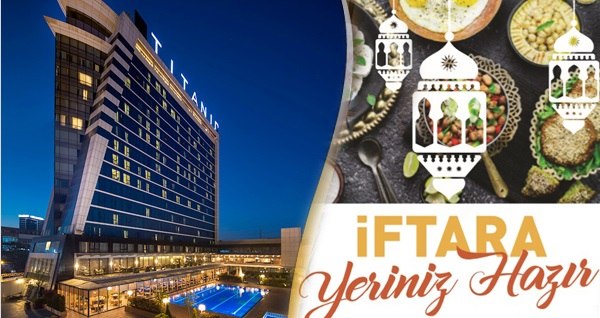 Titanic Business Golden Horn Hotel'de fasıl eşliğinde açık büfe iftar lezzetleri 69 TL'den başlayan fiyatlarla! Bu fırsat 6 Mayıs - 3 Haziran 2019 tarihleri arasında, iftar saatinde geçerlidir.