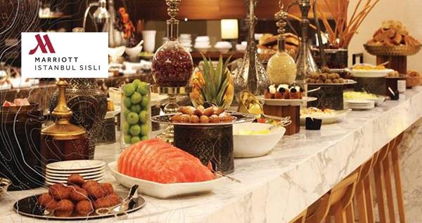 Marriott Şişli Hotel The Dish Room Restaurant & Terrace'ta enfes açık büfe iftar menüsü