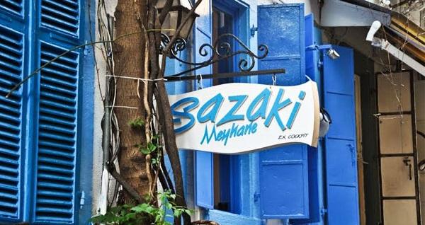 Alsancak Sazaki Meyhane'de içeceğini al gel yemek menüsü (kişi başı) 180 TL yerine 129 TL! Fırsatın geçerlilik tarihi için DETAYLAR bölümünü inceleyiniz.