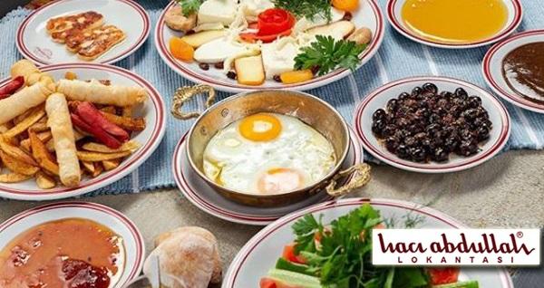 Meşhur Hacı Abdullah Lokantası'nda serpme kahvaltı veya Pazar gününe özel açık büfe brunch kişi başı 34,90 TL'den başlayan fiyatlarla! Fırsatın geçerlilik tarihi için, DETAYLAR bölümünü inceleyiniz.