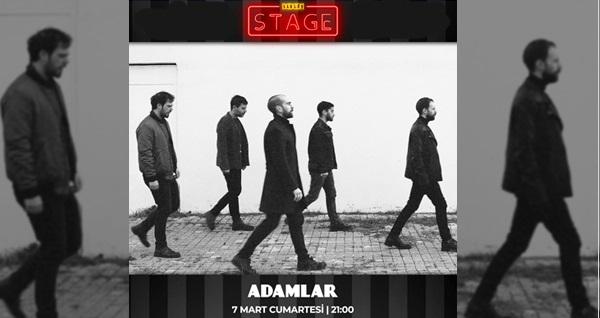 7 Mart'ta Şarlo Stage'te gerçekleşecek Adamlar konserine biletler 70 TL yerine 49 TL! 7 Mart 2020 / 21:00 / Şarlo Stage