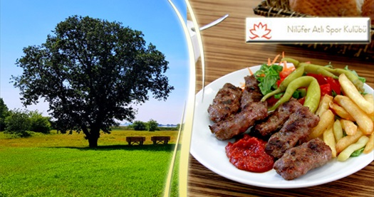 Nilüfer Atlı Spor Kulübü'nde köfte menü ve 3 tur at binme seçenekleri kişi başı 29,90 TL'den başlayan fiyatlarla! Fırsatın geçerlilik tarihi için DETAYLAR bölümünü inceleyiniz.