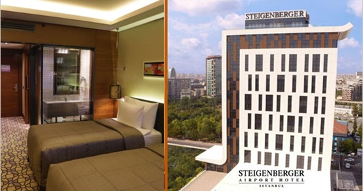 Steigenberger Airport Hotel'de çift kişilik 1 gece konaklama seçenekleri 156 TL'den başlayan fiyatlarla! Fırsatın geçerlilik tarihi için, DETAYLAR bölümünü inceleyiniz.