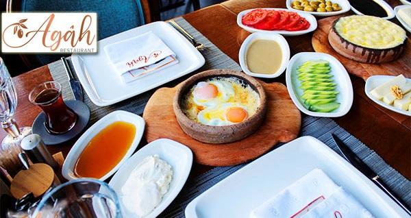 Çankaya Agah Restaurant'ta zengin içerikli enfes serpme kahvaltı kişi başı 50 TL yerine 29,90 TL! Fırsatın geçerlilik tarihi için, DETAYLAR bölümünü inceleyiniz.