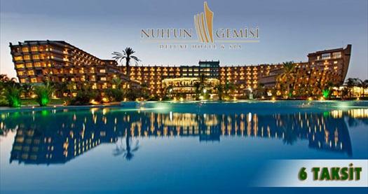 Kıbrıs Nuh'un Gemisi Deluxe Hotel & Spa'da çift kişilik odada kişi başı ULTRA HER ŞEY DAHİL konaklama ulaşım dahil 899 TL'den başlayan fiyatlarla! Özel günler ve BAYRAM DÖNEMİ HARİÇ; 31 Ekim 2016 tarihine kadar geçerlidir .