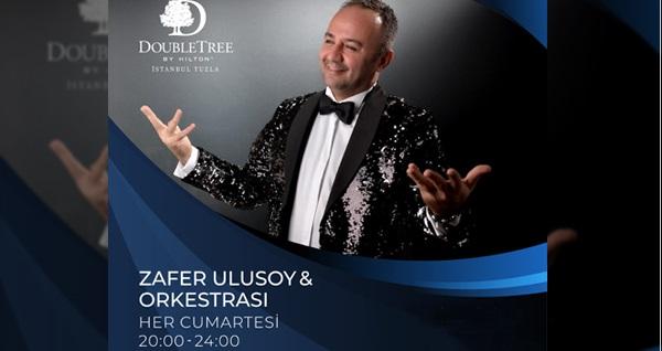 Double Tree By Hilton Tuzla'da her Cumartesi Zafer Ulusoy ve Orkestrası eşliğinde zengin akşam yemeği menüsü limitsiz yerli içecek dahil 179 TL! Fırsatın geçerlilik tarihi için DETAYLAR bölümünü inceleyiniz.