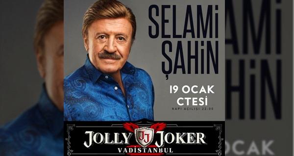 19 Ocak'ta Jolly Joker Vadistanbul Sahnesi'nde gerçekleşecek Selami Şahin konserine biletler 49,90 TL'den başlayan fiyatlarla! 19 Ocak 2019 | 22:00 | Jolly Joker Vadistanbul Sahnesi