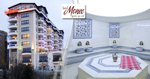 Oran Monec Hotel'de SPA ve Fitness Center kullanımı veya özel hamam kullanımı 49 TL'den başlayan fiyatlarla! Fırsatın geçerlilik tarihi için, DETAYLAR bölümünü inceleyiniz.