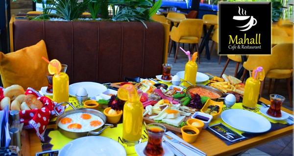 Mahall Cafe Restaurant'ta klasik kahvaltı keyfi ve Türk kahvesi kişi başı 24,90 TL! Fırsatın geçerlilik tarihi için DETAYLAR bölümünü inceleyiniz.