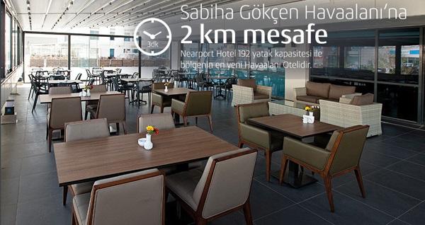 Sabiha Gökçen Nearport Hotel'de çift kişilik 1 gece kahvaltı dahil konaklama 225 TL! Fırsatın geçerlilik tarihi için, DETAYLAR bölümünü inceleyiniz.