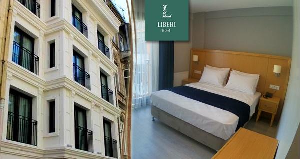 Liberi Hotel Taksim'de çift kişilik 1 gece konaklama seçenekleri 290 TL'den başlayan fiyatlarla! Fırsatın geçerlilik tarihi için DETAYLAR bölümünü inceleyiniz.