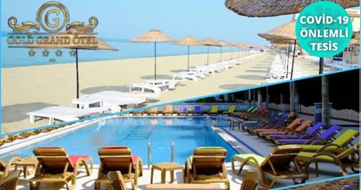 Denize sıfır Kumburgaz Grand Gold Hotel'de 2 kişilik konaklama, kahvaltı, açık havuz ve özel plaj kullanımı 137 TL'den başlayan fiyatlarla! Fırsatın geçerlilik tarihi için, DETAYLAR bölümünü inceleyiniz.