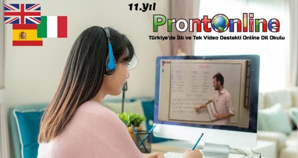 Prontonline'da 3 yabancı dil eğitimi bir arada! 1 yıllık 7/24 online İngilizce, İspanyolca ve İtalyanca eğitimi ve sertifika 49 TL'den başlayan fiyatlarla! Fırsatın geçerlilik tarihi için DETAYLAR bölümünü inceleyiniz.