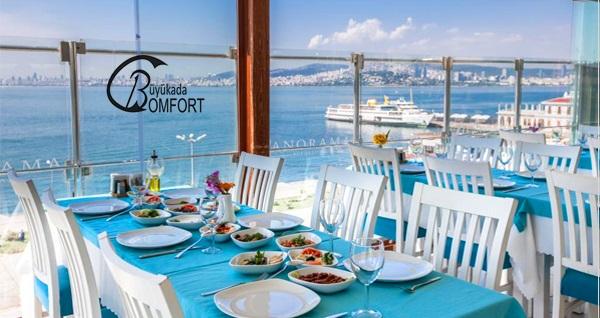 Büyükada Comfort Hotel'de canlı müzik eşliğinde yemek menüsü 99 TL'den başlayan fiyatlarla! Fırsatın geçerlilik tarihi için DETAYLAR bölümünü inceleyiniz.