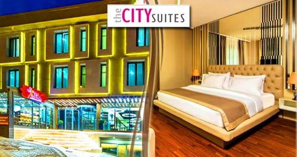 The City Suites İstanbul'un farklı odalarında kahvaltı dahil çift kişilik 1 gece konaklama seçenekleri 129 TL'den başlayan fiyatlarla! Fırsatın geçerlilik tarihi için, DETAYLAR bölümünü inceleyiniz.