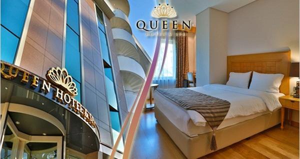 Queen Hotel&Spa'da kahvaltı dahil çift kişilik 1 gece konaklama ve spa keyfi