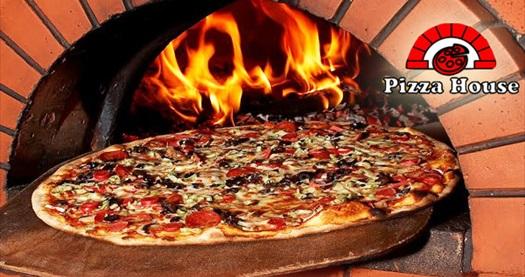 Pizza Houseda Odun Ateşinde Fırınlanmış Pizza çeşitleri Grupanya
