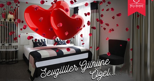Beşiktaş Mia Berre Hotel'de Sevgililer Günü'ne özel konaklama ve akşam yemeği paketleri 179 TL den başlayan fiyatlarla! Sevgililer Gününe Özel; 13-14 Şubat 2016 tarihinde geçerlidir.