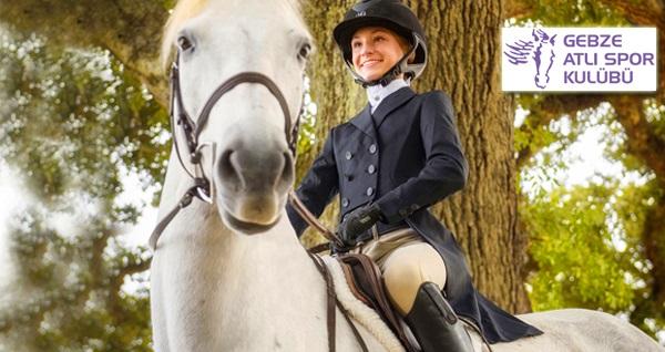 Gebze Atlı Spor Kulübü'nde at biniciliği ve atla safari seçenekleri kişi başı 24,90 TL'den başlayan fiyatlarla! Fırsatın geçerlilik tarihi için DETAYLAR bölümünü inceleyiniz.