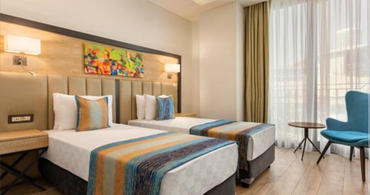 Ramada Encore By Wyndham Basın Ekspres Otel'de çift kişilik 1 gece konaklama seçenekleri 269 TL'den başlayan fiyatlarla! Fırsatın geçerlilik tarihi için DETAYLAR bölümünü inceleyiniz.