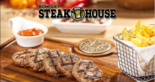 Büyükçekmece Bonfilet Steak House'dan birbirinden lezzetli menüler 38 TL'den başlayan fiyatlarla! Fırsatın geçerlilik tarihi için DETAYLAR bölümünü inceleyiniz.