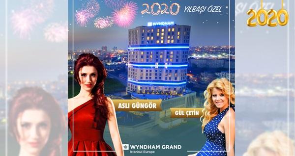Wyndham Grand İstanbul Europe Hotel'de Aslı Güngör ve limitsiz yerli içecekli Yılbaşı programı ve konaklama seçenekleri kişi başı