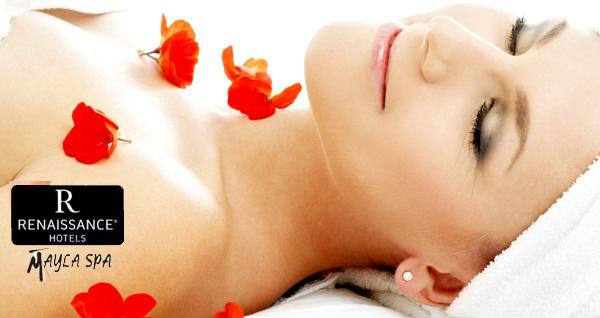 Renaissance İzmir Hotel Mayla Spa'da 40 dakika aromaterapi, kese köpük ve spa kullanımı, peeling, bölgesel incelme ve antiselülit masajı 109 TL'den başlayan fiyatlarla! Fırsatın geçerlilik tarihi için DETAYLAR bölümünü inceleyiniz.