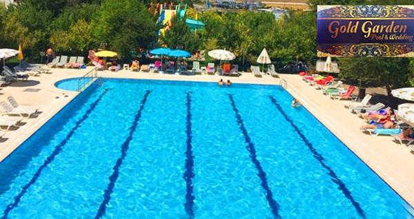 Gölbaşı Gold Garden'da aquapark ve havuz girişi kişi başı 35 TL'den başlayan fiyatlarla! Fırsatın geçerlilik tarihi için DETAYLAR bölümünü inceleyiniz.