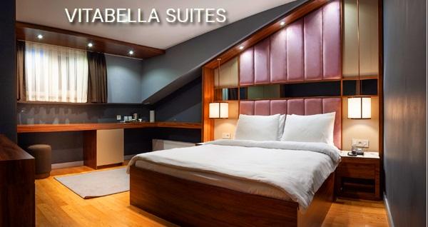 Vitabella Suites'de kahvaltı hariç 2 veya 4 kişilik konaklama seçenekleri 300 TL! Fırsatın geçerlilik tarihi için DETAYLAR bölümünü inceleyiniz.