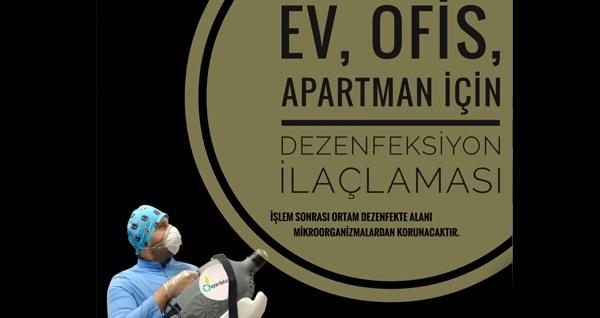 Pınarım Temizlik'ten Bioksi T.C Sağlık Bakanlığı onaylı dezenfektanlar ile ortam dezenfeksiyon hizmeti! Fırsatın geçerlilik tarihi için DETAYLAR bölümünü inceleyiniz.