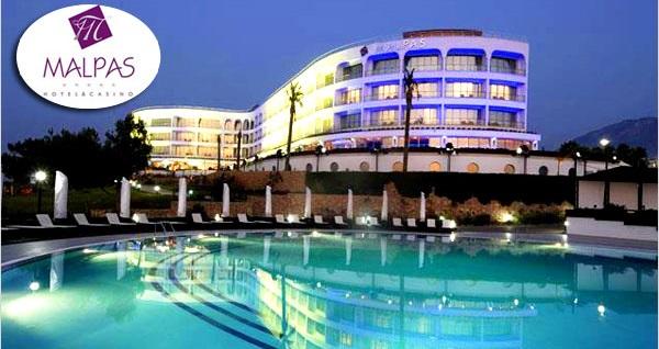 5 yıldızlı Girne Malpas Hotel'de TAM PANSİYON PLUS uçaklı konaklama paketleri kişi başı 913 TL'den başlayan fiyatlarla! Detaylı bilgi ve size en uygun fiyatların sunulması için hemen 0850 532 50 76 numaralı telefonu arayın!