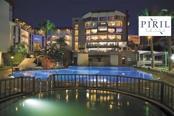 Pırıl Hotel Thermal & Beauty Spa Çeşme'de çift kişilik 1 gece konaklama seçenekleri ve spa keyfi 200 TL'den başlayan fiyatlarla! Fırsatın geçerlilik tarihi için, DETAYLAR bölümünü inceleyiniz.
