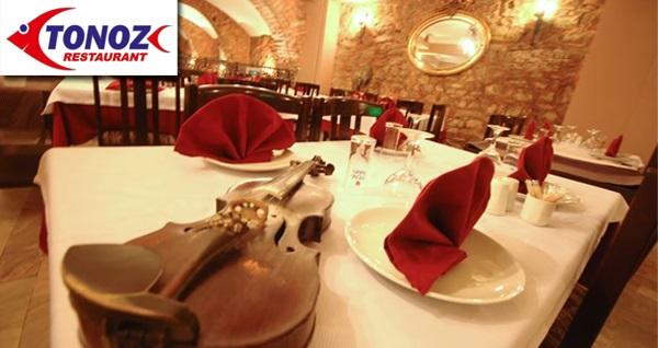 Kumkapı Tonoz Restaurant'ta limitsiz eğlence ve fasıl eşliğinde yemek menüsü 119 TL! Fırsatın geçerlilik tarihi için DETAYLAR bölümünü inceleyiniz.