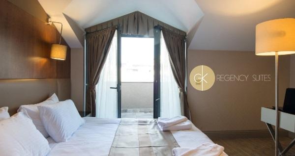 Harbiye GK Regency Suites'te çift kişilik 1 gece konaklama seçenekleri 219 TL'den başlayan fiyatlarla! Fırsatın geçerlilik tarihi için DETAYLAR bölümünü inceleyiniz.
